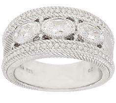 Judith Ripka Sterling 1.50 ct tw Bezel Set Diamonique Ring