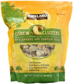 Kirkland Signature's Cashew Cluster with Almonds and Pumpkin seeds, Pack 907g | eBay