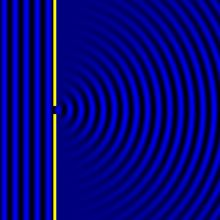 Diffraction of waves GIF