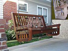 Gorgeous craftsmanship! Perfect bungalow porch swing.
