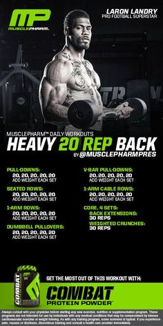MusclePharm Heavy 20 Rep Back