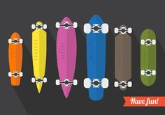 Vector Set Of Longboard Illustrations 265956 -   Colorful longboard illustration for your creative projects  - https://www.welovesolo.com/vector-set-of-longboard-illustrations-3/?utm_source=PN&utm_medium=weloveso80%40gmail.com&utm_campaign=SNAP%2Bfrom%2BWeLoveSoLo