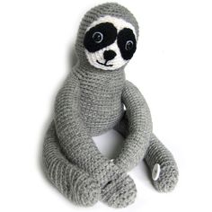 Sloth Crochet Pattern with buttonhole arms