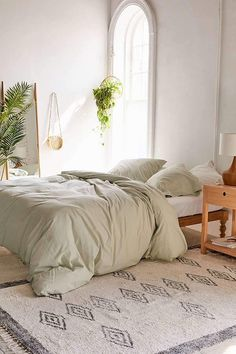 Washed Cotton Duvet Cover Bedroom Inspo, Home Bedroom, Master Bedroom,  Bedroom Decor,