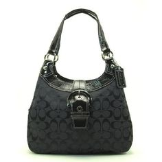 2590a0661d29 Click Image Above To Buy  Authentic Coach Soho Signature Hobo Lynn Bag  17094 Black