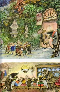 Wind in the Willows book print (plate, illustration) 1963 by E Shepard. Christopher Robin, Children's Book Illustration, Watercolor Illustration, Jobs In Art, Mushroom Pictures, Postcard Art, Fairytale Art, Whimsical Art, Illustrations Posters