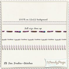 Stitches freebie from Wendy Page Digital Designs