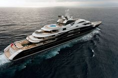 'Serene' by Fincantieri Shipbuilding - 440 feet. Worlds 10th largest yacht. Owned by Russian vodka tycoon Yuri Scheffler