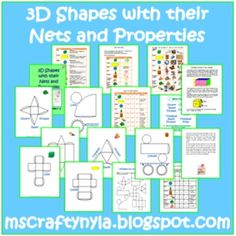 Everything you need to teach about 3D shapes is found in this illustrated activity booklet. Shapes featured are cubes, cuboids, spheres, cylinders, cones, triangular pyramids, rectangular pyramids and triangular prisms. $5.00