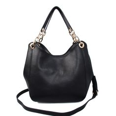 MICHAEL KORS Fulton Large Leather Shoulder Bag Black