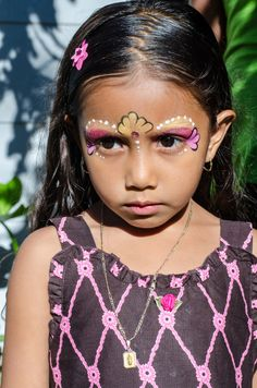 Abraham Rodriguez - First Birthday - Santa Ana - face paint girl