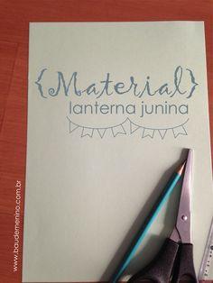 Diy de lanterna para Festa Junina, simples, fácil e linda!