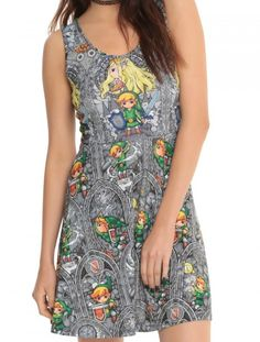 Wear The Legend Of Zelda With This Wind Walker Stained Glass Dress Read more at http://fashionablygeek.com/approved-products/wear-the-legend-of-zelda-with-this-wind-walker-stained-glass-dress/#4bHHmOQA7bMiR6Ar.99