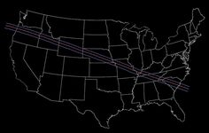 Total Solar Eclipse 2017 - Path Through the United States