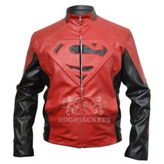 Superman Red and Black Leather Jacket by EstyLeather on Etsy! AHHHHHHHHHHH!!! I WANT IT!!!