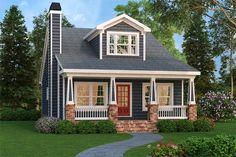 House Plan 009-00218 - Narrow Lot Plan: 1,853 Square Feet, 4 Bedrooms, 3 Bathrooms