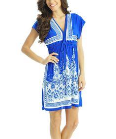 Love this Blue Empress V-Neck Dress on #zulily! #zulilyfinds