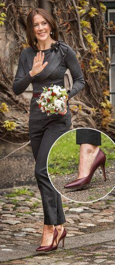 SE BILLEDERNE: Kronprinsesse Marys flotte sko | BILLED-BLADET
