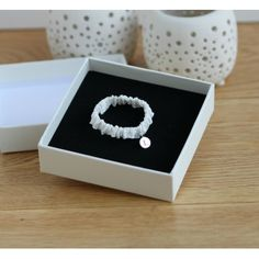 Silk Baby Wristband With Silver Initial Pendant