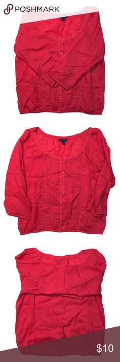 American Eagle Pink Peasant Top American Eagle Outfitters pink peasant top. 3/4 sleeves. Size small but can fit larger sizes. Great used condition. American Eagle Outfitters Tops Blouses
