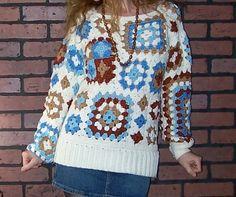 70s Retro Trend: Crochet Afghan Granny Squares | Penny Dreadful Vintage
