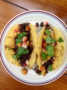 Mountain Mama Cooks: Black Bean Tacos with Fresh Peach Salsa October ...