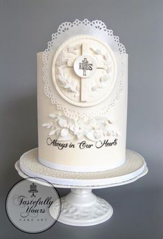 Funeral Cake, Christian Cakes, Religious Cakes, Confirmation Cakes, First Communion Cakes, Diy Wedding Cake, Cake Gallery, Novelty Cakes, Love Cake