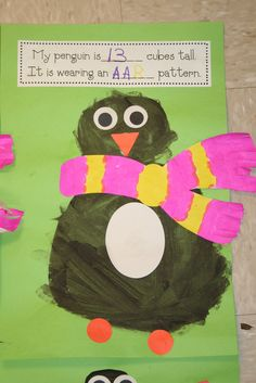 My Father's World K P is for Penguin - Cute penguin art and measuring and patterning.