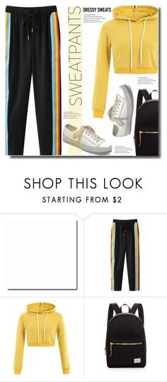 """Comfort is Key: Sweatpants"" by soks ❤ liked on Polyvore featuring Herschel Supply Co. and polyvoreeditorial"