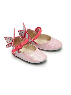 Sophia Webster Baby's Chiara Mini Butterfly Glitter Mary Janes - Pink