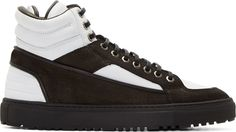 ETQ Amsterdam Black & White Leather High-Top Sneakers