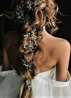 Crystal and Pearl Hair Vine Extra Long Hair Vine Bridal Hair Vine Wedding Hair Vine Crystal Hair Piece Bridal Jewelry Hair Vine Pearl Wedding Hairstyles For Long Hair, Braided Hairstyles, Prom Hairstyles, Hairdos, Bohemian Wedding Hairstyles, Pretty Hairstyles, Festival Hairstyles, Woman Hairstyles, Evening Hairstyles