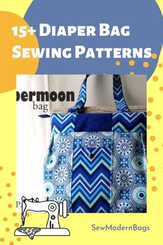 Diaper bag sewing patterns. New moms will love a handmade diaper bag. Sewing a diaper bag is the perfect baby shower gift idea. There are more than 15 sewing patterns for diaper bags including some free diaper bag sewing patterns and some paid patterns. All of these large bags to sew have plenty of pockets to store all the things babies need and to keep all those diaper and baby supplies neat. #SewModernBags #DiaperBagSewingPattern #DiaperBagToSew #BagSewingPattern #BabyShowerGiftToSew Diaper Bag Patterns, Bag Patterns To Sew, Sewing Patterns Free, Clutch Bag Pattern, Backpack Pattern, Large Diaper Bags, Large Bags, Nappy Bags, Diaper Clutch