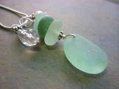 Sea Glass Necklace - Sea Foam Teal Beach Seaglass Pendant. $28.00, via Etsy.