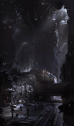 hayleyglyphs: Bruno Werneck's concept art work for the cancelled 'Star Wars: video game. Cyberpunk Kunst, Cyberpunk City, Futuristic City, Concept Art Landscape, Fantasy Landscape, Sci Fi Environment, Environment Design, Sci Fi Fantasy, Fantasy World