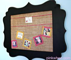 DIY Burlap Bulletin Board | Pink When