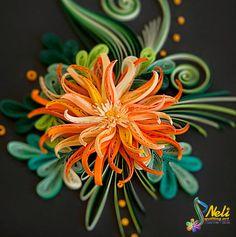 *QUILLING ~ Neli Quilling Art: Quilling picture - orange flower