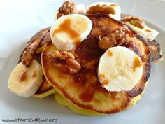 Waffles, Pancakes, Dessert Recipes, Desserts, Food And Drink, Breakfast, Banana, Tailgate Desserts, Morning Coffee