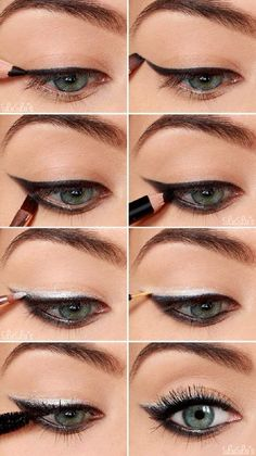 Silver Eyeshadow   Colorful Eyeshadow Tutorials   Makeup Tutorials