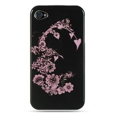 Crystal Case - Black w/ Pink Blossom for iPhone 4 / 4S
