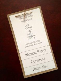 "burlap lace wedding ""order of service"" | Rustic Wedding program template Burlap & by diyweddingsprintable, $8 ..."