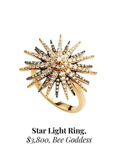 A Ring as Blinding as the Sun Light Ring, Billionaire, Bobby Pins, Blinds, Hair Accessories, Sun, Stars, Gifts, Instagram
