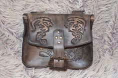 Mittelalter Gürteltasche Vikings  Drachen