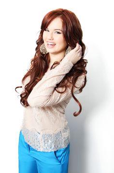 debby ryan....love her hair color