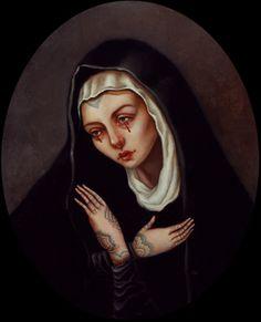 Synesthesia Garden - a weird art + style blog | » Blog Archive » Our Lady of Dolorosa: The Art of Jasmine Worth
