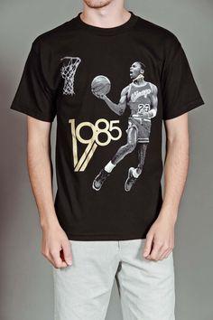 The Freshnes 1985 S/S T-Shirt Black/Gold