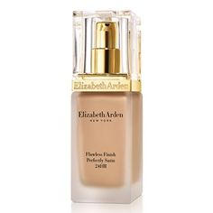 Elizabeth Arden Flawless Finish Perfectly Satin 24 Hour Make Up Golden Sands 05 / Oil Free Foundation, No Foundation Makeup, Foundation Tips, Foundation Cosmetics, Flawless Foundation, Best Long Lasting Foundation, Elizabeth Arden Flawless Finish, Elizabeth Arden Makeup, Natural Makeup