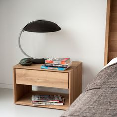 Ethnicraft Nordic Bedside Table with Drawer - Curious Grace