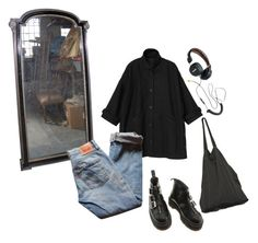 """""""Untitled #82"""" by inteovertgirl ❤ liked on Polyvore featuring Monki, Levi's, Dr. Martens and Laneus"""