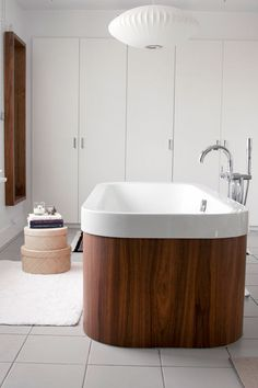 The ultimate modern bathroom in Calgary, Canada. See the full home tour here at Sneak Peek: Jess Loraas. #sneakpeek